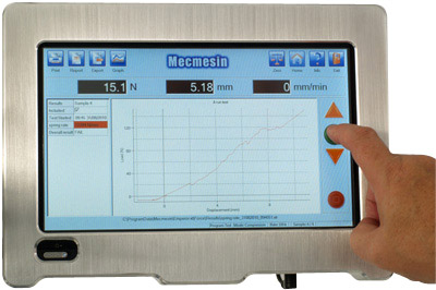 Mecmesin touch screen universal testers for peel adhesion testing