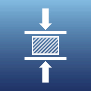 compression testing icon
